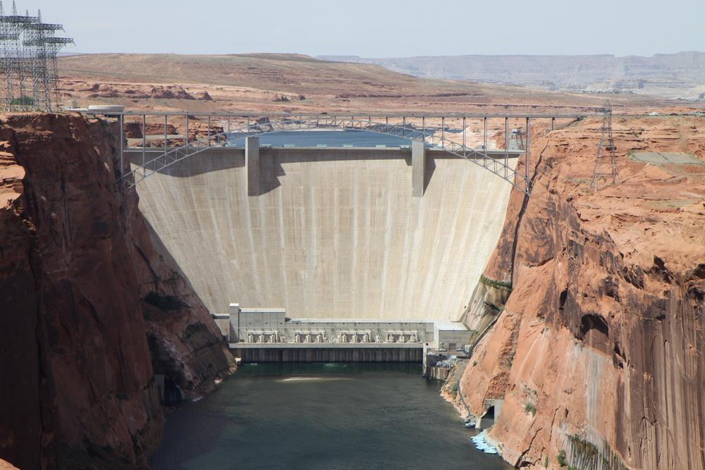 Дамба Глен. Glen Dam. AZ, USA