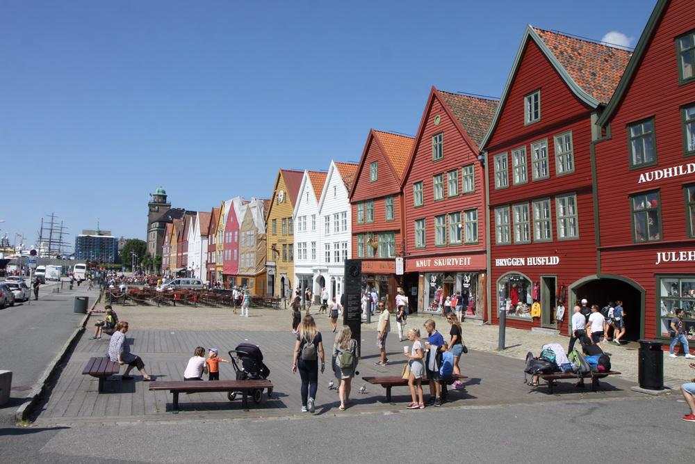 Норвегия. Norway. Берген. Bergen. Брюгге Bryggen