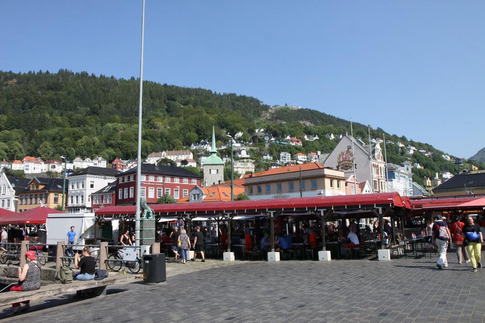 Норвегия. Norway. Берген. Bergen. Рыбный рынок
