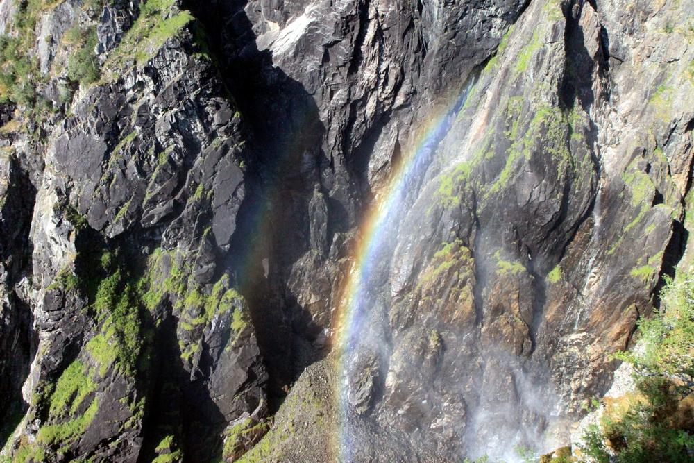 Норвегия. Norway. Voringfoss. Водопад